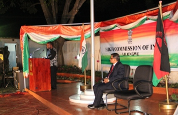 Hon'ble Mr. George Mkondiwa, Chief Secretary of Government of Malawi speaking as the Guest of Honour at the ITEC Day at the High Commission of India, Lilongwe on 16 September, 2016.