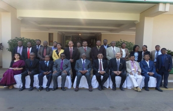 Honble Minister Aggrey Masi, Minister for Natural Resources, Energy amp Mining, Govt of Malawi (Seated, 5th L) with Indian delegation for 2nd Joint Working Group Meeting on Mineral Resources in Lilongwe on 16 August, 2017. The Indian delegation was led by Mr Subhash Chandra, Joint Secretary (IC) Ministry of Mines (Seated, 3rd R) and Co-hosted by Shri Suresh Kumar Menon, High Commissioner of India to Malawi.