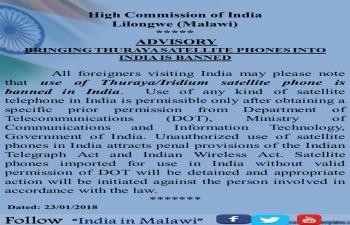 Bringing Thuraya Satellite Phones into India is Banned