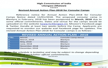 Revised Annual Action Plan-2018 for Consular Camps
