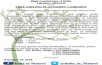 Tree Sapling Plantation Campaign