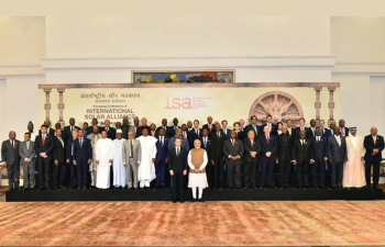 Hon. Aggrey Masi, Minister of Natural Resources, Energy and Mining attended the International Solar Alliance Conference in New Delhi, India on 11 March, 2018. The Group Photo of Hon. Minister Aggrey Masi, with Prime Minister of India Shri Narendra Modi and President of France Mr Emmanuel Macron and participating leaders and high representatives on the occasion of the Founding Conference of International Solar Alliance. Govt. of the Republic of Malawi ratified the International Solar Alliance Framework Agreement on 6th November, 2017.