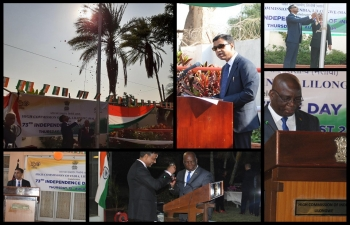 High Commission of India celebrated 73rd Independence Day of India in the morning. The Flag Hoisting Ceremony was held in the Chancery premises which was attended by large number of community members and friends of India.