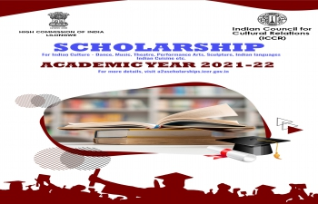Indian Culture Scholarship by ICCR for the Academic Year 2021-2022