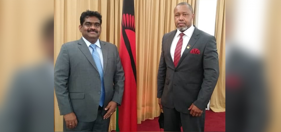 High Commissioner met Right Honourable Vice President of Malawi and discussed bilateral relations of mutual interests.